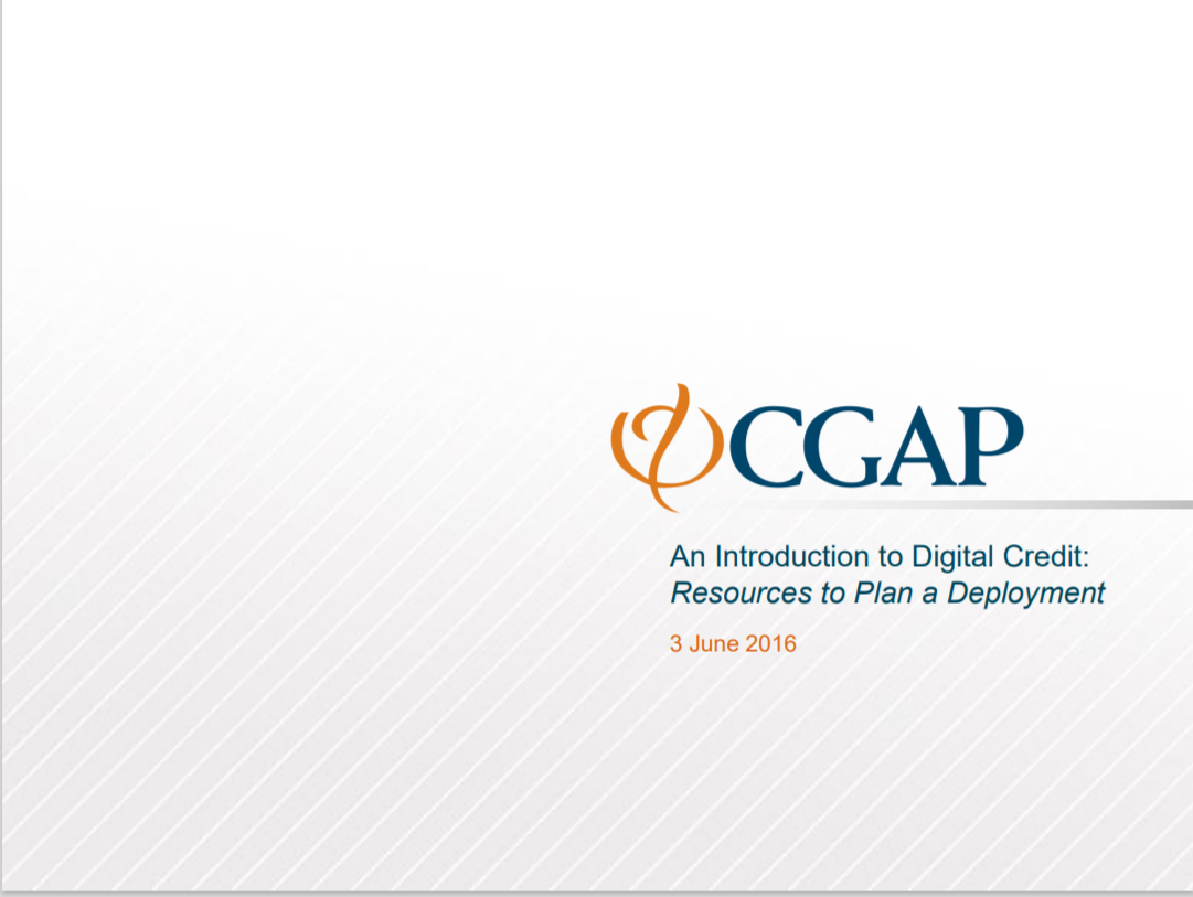 CGAP_An Introduction To Digital Credit Cover
