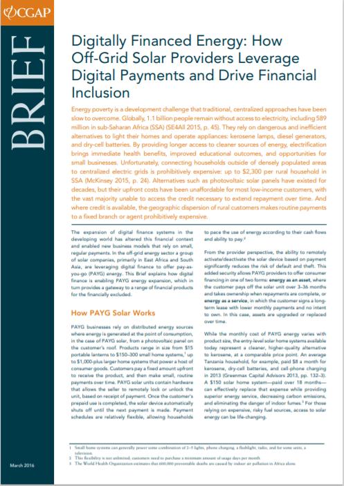 CGAP_Brief Digitally Financed Energy Cover