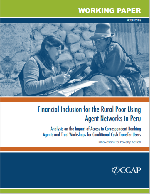 CGAP_Financial Inclusion for the Rural Poor Using Agent Networks In Peru Cover