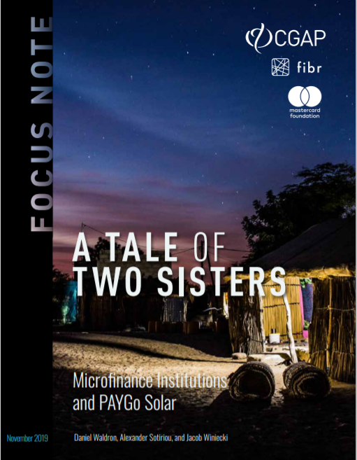 CGAP_Focus Note A Tale Of Two Sisters PAYG And MFIs Cover