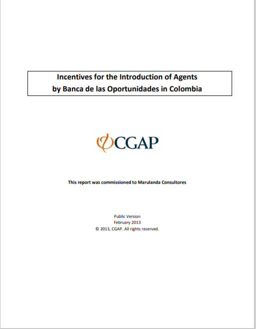 CGAP_Incentives for the Introduction of Agents Cover