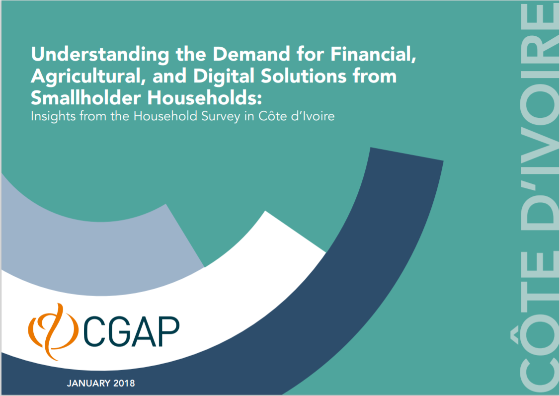 CGAP_Insights From Smallholder Household Survey Cote D'Ivoire Cover