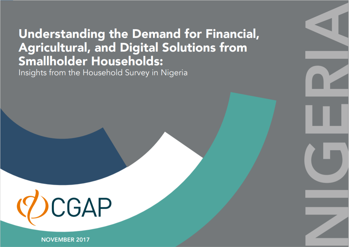 CGAP_Insights From Smallholder Household Survey Nigeria Cover