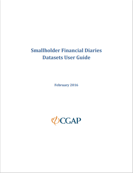 CGAP_Smallholder Diaries User Guide To The Data Sets Cover