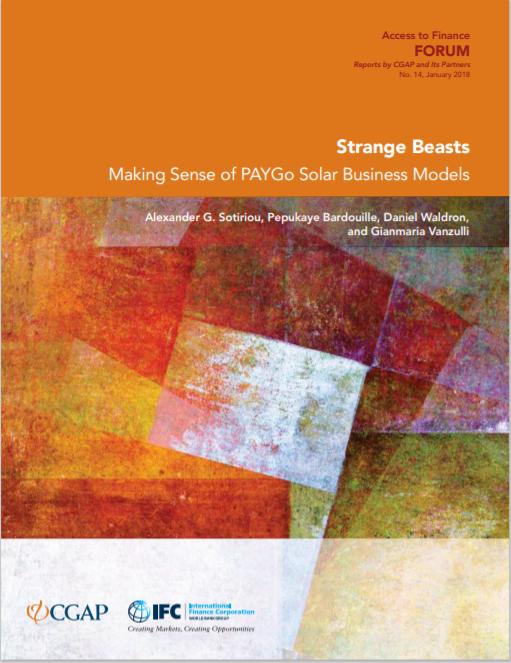 CGAP_Strange Beasts Making Sense Of PAYG Solar Business Models Cover