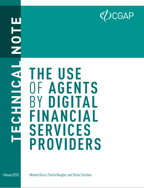 CGAP_Technical Note The Use Of Agents By Digital Finance Service Providers Cover