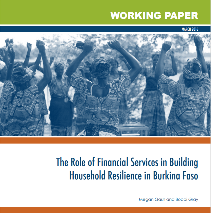 CGAP_The Role of Financial Services in Building Household Resilience in Burkina Faso Cover
