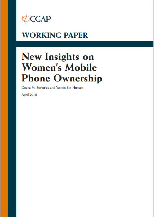 CGAP_Working Paper New Insights on Women's Mobile Phone Ownership Cover