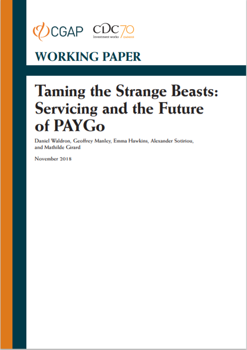 CGAP_Working Paper Taming The Strange Beasts Servicing And The Future OF PAYG Cover