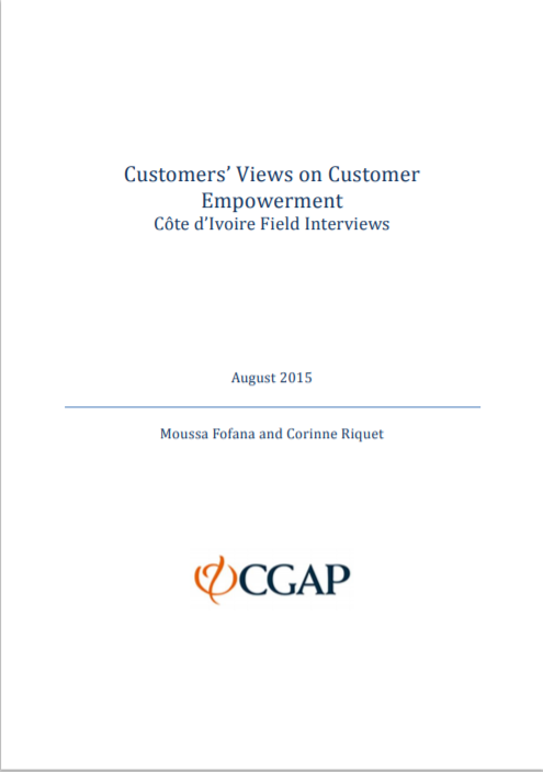 CGAP_Working Paper Views on Customer Empowerment- Findings from Cote d'Ivoire Cover