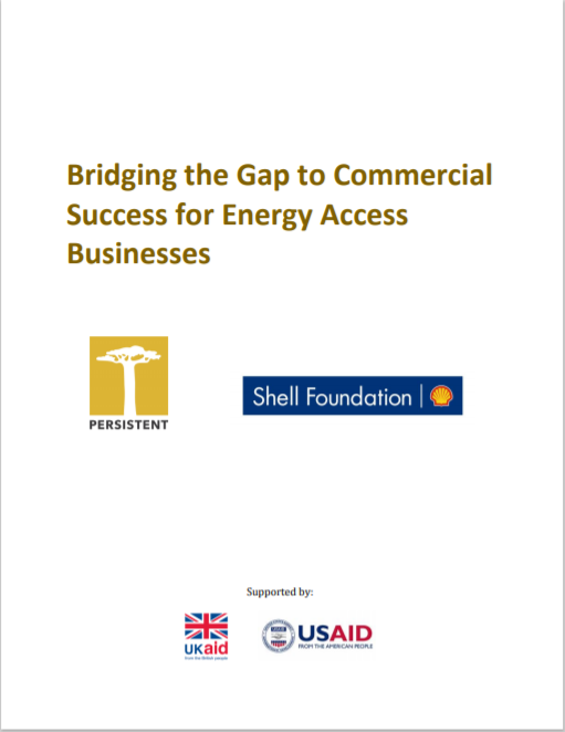 PE_Bridging The Gap to Commercial Success for Energy Access Businesses Cover