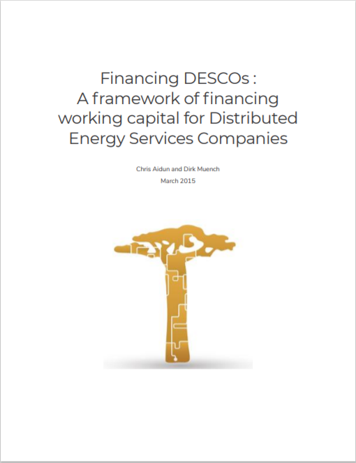 PE_Financing DESCOs- A Framework For Financing Working Capital Cover