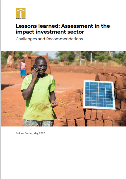 PE_Lessons Learned- Assessment In The Impact Investment Sector Cover