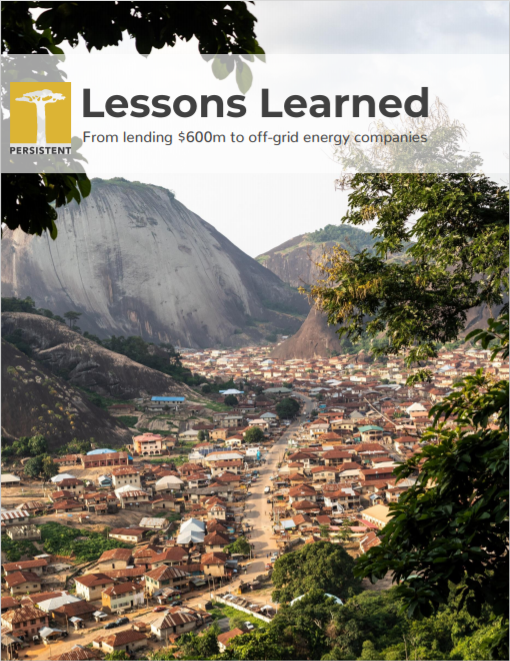 PE_Lessons Learned from Lending 600M USD to solar companies Cover