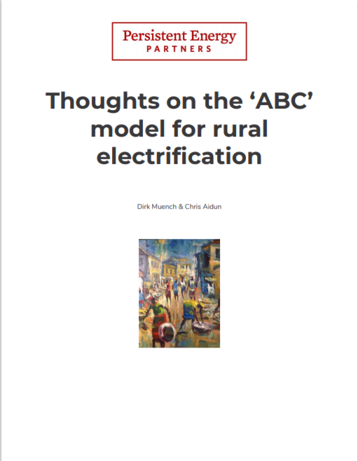 PE_Thoughts On The ABC Model For Rural Electrification Cover