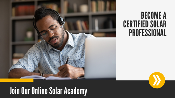 Join Our Online Solar Academy cta