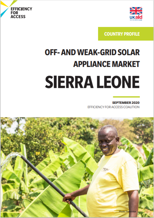 Efficiency For Access_ Sierra Leone Company Profile Off And Weak Grid Solar Appliance Market Cover