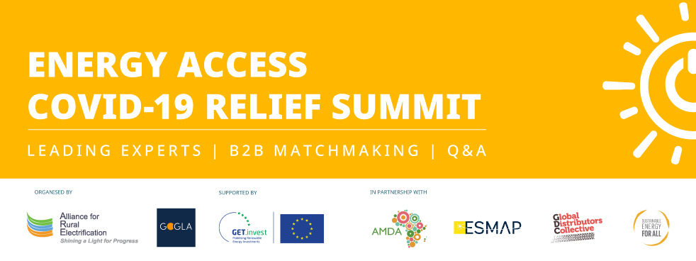 Energy Access COVID-19 Refief Summit Banner