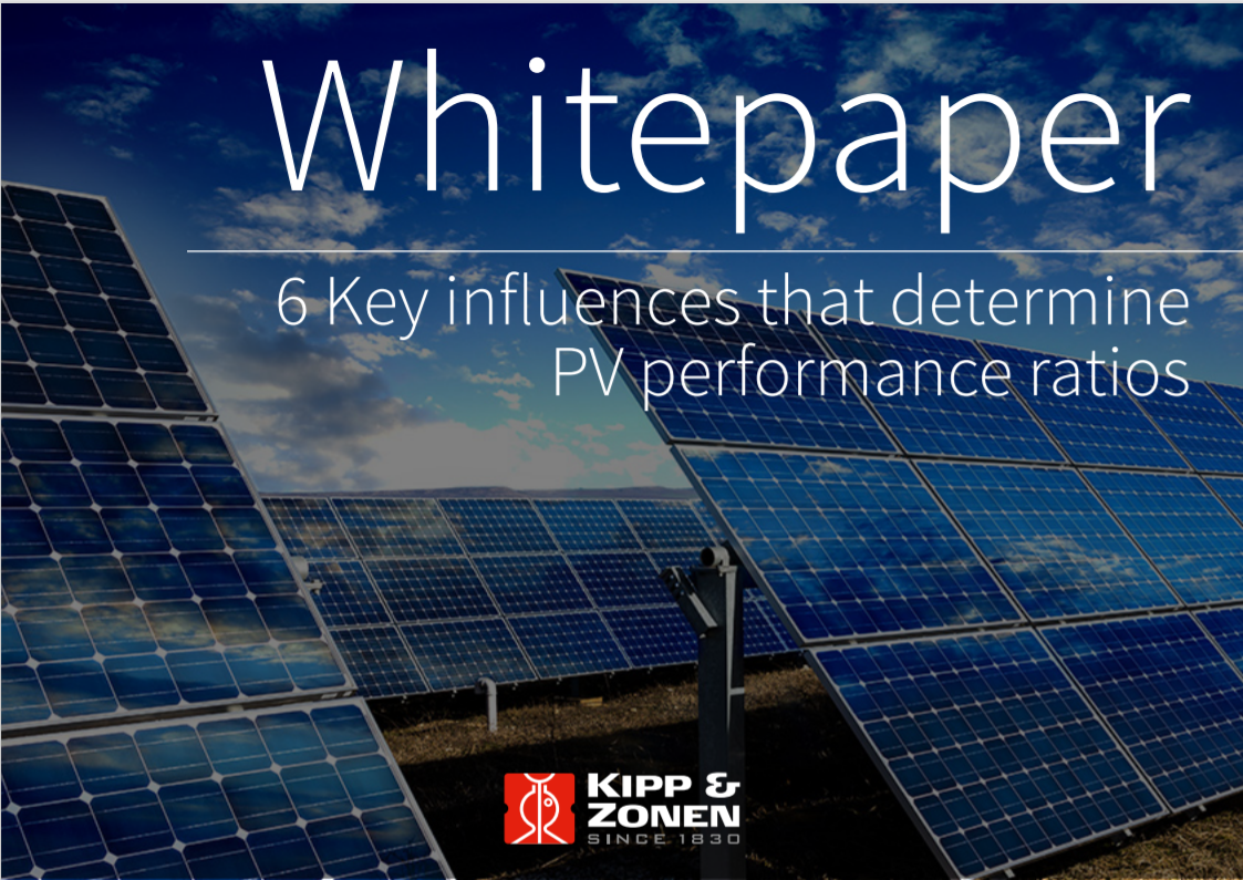 KIPP AND ZONEN_6 Key influences that determine PV performance ratios Cover