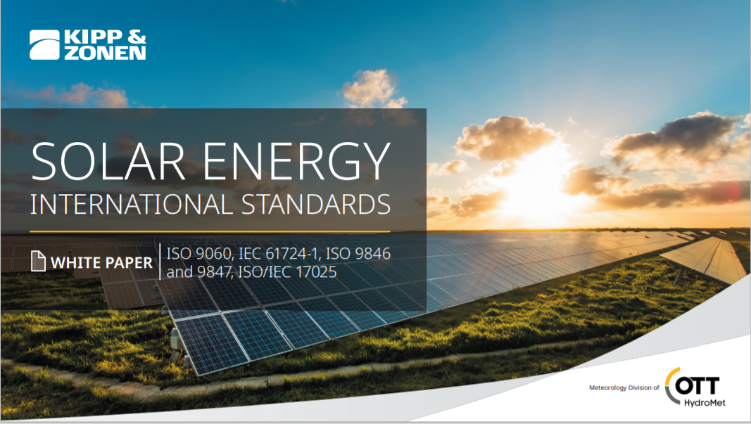KIPP AND ZONEN_Solar Energy International Standards Cover
