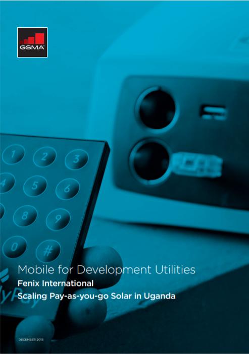 M4DU GSMA Report Fenix International Cover