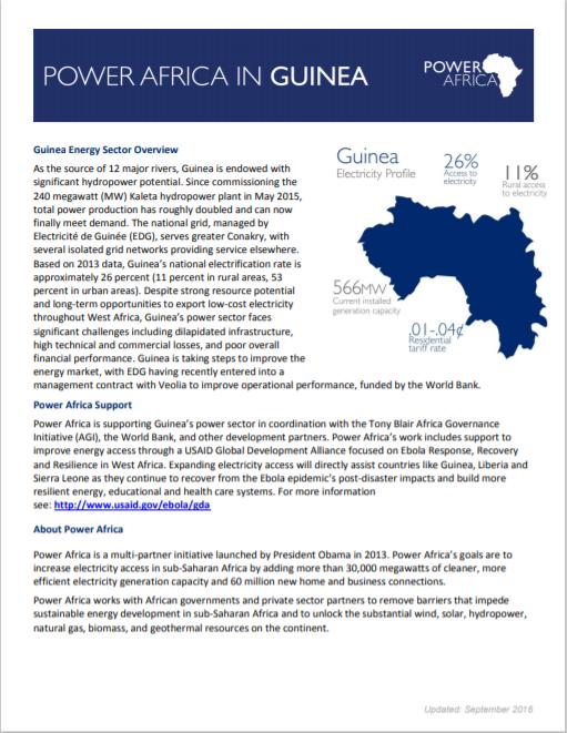 POWER AFRICA_Guinea Solar Fact Sheet Cover