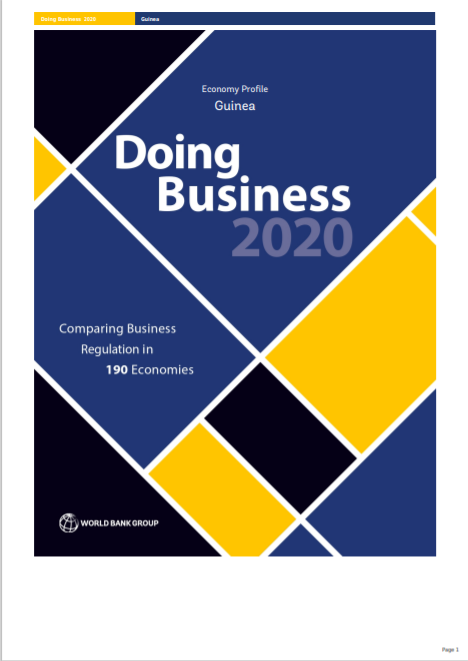 WORLD BANK_Doing Business in Guinea Economy Cover