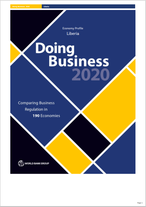 WORLD BANK_Doing Business in Liberia Economy Cover