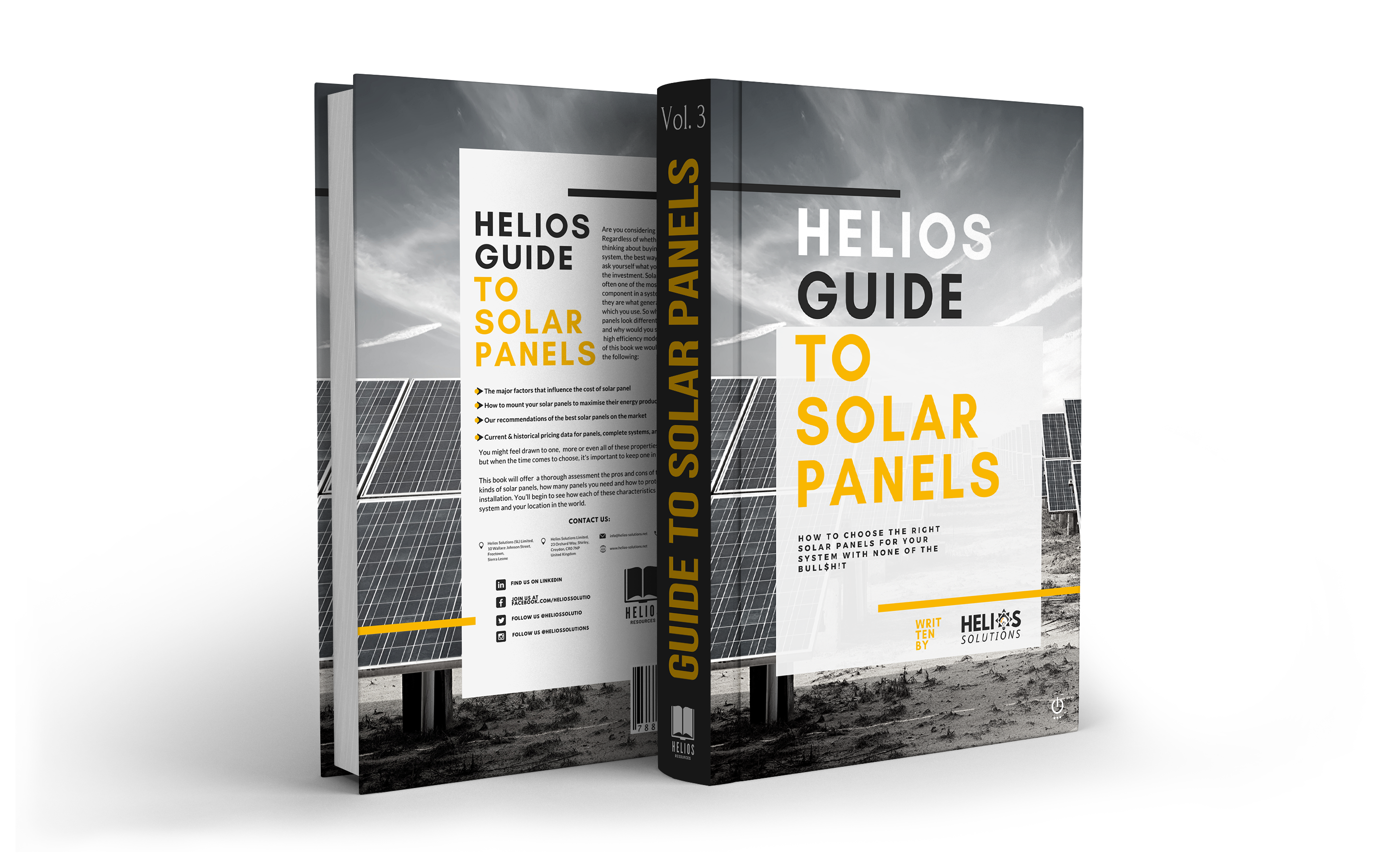 Helios Solutions solar panel guide ebook cover